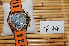 ICE NATION super Cool OrangeTriangle Face Watch  F74