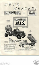 1955 PAPER AD Smith Miller MIC Of California Toy Model Truck Searchlight