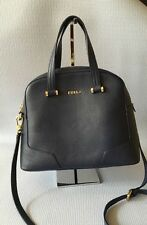 FURLA MICHELLE NAVY BLUE PEBBLED LEATHER DOME SATCHEL BAG $448