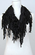 Jersey Circle Loop Shawl  Plain Scarf Snood  tassle fringe boho Season uk seller
