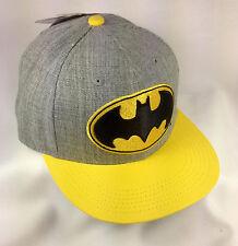 Men's Batman Hat/Cap Adjustable Snap Back Flat Brim Hip Hop, NWT