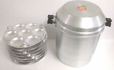 NEW JUMBO BIG LARGE ALUMINUM IDLI COOKER STEAMER 49 PIECES COOKING 7 STAND RACK