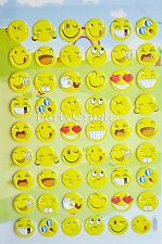 Emoji Sticker Pack 3D Emoji Smile Face Stickers Decor DIY Scrapbook 54 Stickers