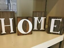 Create your own RUSTIC WOOD BLOCK SIGN Home Family Country Shelf Decor
