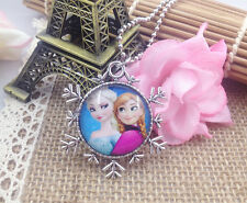 Hot FROZEN PENDANT Silver Plated CHAIN NECKLACE ROYAL PRINCESS X6