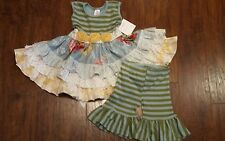 NWT Giggle Moon Spring and Easter Dress With Capris Size 2T