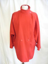 "Ladies Coat -Unbranded, Size 14, Red, 70% Wool, Length 36""  - 8254"