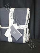 Pottery Barn West Elm Linen Cotton Bed Duvet Cover Full Queen FQ India Ink