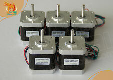 5 PCS CNC Nema17, 2.4A, 4200g.cm,0.9°,2ph Wantai Stepper Motor reprap 3d printer