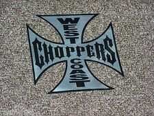 Medium JESSE JAMES CFL WEST COAST CHOPPERS Cross Metal Appearance Decal Sticker