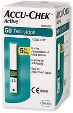 50 Test Strips for Accu-Chek Active Glucometer with 1 Code Chip Expiry- 03/2018