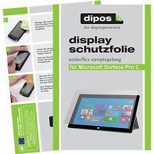 2x Microsoft Surface Pro 2 Schutzfolie matt Displayschutzfolie Folie dipos