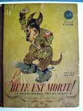 "Vintage 1945 Comic Book by Edmond-François Calvo Titled ""La Bete Est Morte"" *"