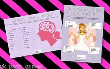 Hen Night Party Games - Think Like A Bride  .  Whats In Your Bag - 2 GAMES