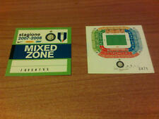DUE PASS MIXED ZONE SERIE A STAGIONE 2007-2008 INTER - JUVENTUS SENZA NOME