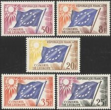 France (Council of Europe) 1958 Council Flag/Sun/Emblem/Politics 5v set (n44837)