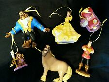 Disney Beauty and the Beast Christmas Ornament Set of six-NEW Belle, Beast