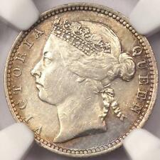 1901 Straits Settlements Victoria 10 Cents (10C) - NGC AU - Rare Certified Coin