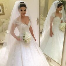 2016 New White/Ivory Bridal Gown Wedding Dress Custom Size:6/8/10/12/14/16 18 20