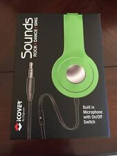 iCover by Digicom Sounds, Built in Microphone w/ On/Off Switch, Green, NIB
