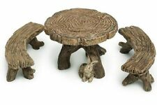 Mini Miniature Fairy Log Table Bench Home Bonsai Garden Accessory Decoration New