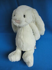 """RARE CREAMY WHITE 11"""" BUNNY RABBIT BASHFUL WHISKERS SOFT COMFORTER TOY JELLYCAT"""