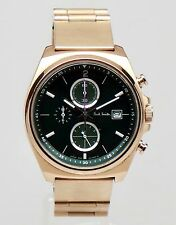 Paul Smith Verde Y Dorado final Ojos Reloj Cronógrafo