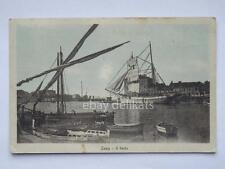 ZARA Dalmazia il porto veliero vecchia cartolina