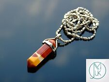 Mookaite Crystal Point Pendant Natural Gemstone Necklace Healing Stone Chakra