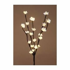 Lighted Flower Branch -24 Inch Brown with 20 LED Flower Lights -Battery Operated