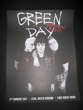 GREEN DAY LEEDS POSTER 5/2/2017 FIRST DIRECT ARENA Concert Memorabilia Rock RARE