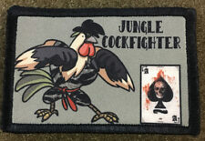 Jungle Cockfigther AR15 Morale Patch Hook Vietnam Tiger Stripe Camo