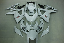 Fairing Kits fit for Suzuki gsxr600/750 06-07 2006 2006 Gloss white color ABS