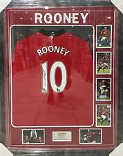 WAYNE ROONEY MANCHESTER UNITED SIGNED FRAMED SOCCER JERSEY