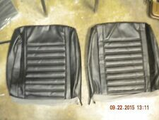 1967 OLDS CUTLASS NEW BLEM BENCH SEAT UPPER COVERS BLACK 67 WAGON 442