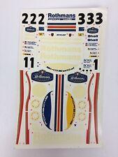 Rothmans sponsor decals sticker for tamiya 1/24 porsche 956