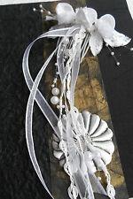 Haarstecker Gesteck weiß zart romantisch Hochzeit Perlen Haarschmuck Kommunion