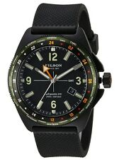 Filson Journeyman GMT Watch 44 mm Black Dial w/ Rubber Strap MSRP $775