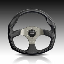 MOMO TOMCAT 350MM GENUINE ITALIAN LEATHER STEERING WHEEL - SAME DAY DESPATCH