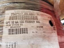Del City 12awg GPT PVC Automotive/Marine Primary Lead Wire 60V/80C Black/100ft
