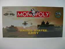 U.S. Army Edition Monopoly Board Game Factory Sealed Brand New Pewter Tokens NIB