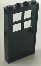 *NEW* 1 Set LEGO 1x4x6 Black Frame & BLACK Door with 4 PANES