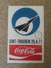 Promo AIRSHOW / Coca-Cola sticker for Sint-Truiden, Belgium JUNE 1977