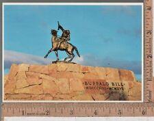 1950s UNUSED POST CARD BUFFALO BILL CODY MONUMENT, CODY WY