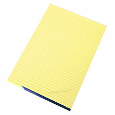 5 x Memory Aid A4 Yellow 100 Page Paper Notepad Refill Memo Lined Writing Pads