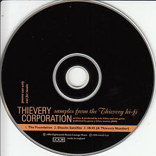 THIEVERY CORPORATION Samples From The Thievery Hi-Fi UK 3-trk promo only CD 4AD