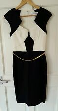 BNWOT £65 ASOS/Paper Dolls Size 8 10 Black White Dress Christmas Party Work