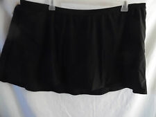 COLLECTIONS BY CATALINA BLACK SWIMSUIT SKIRT WITH PANTY BIKINI  2X 18W-20W NWT