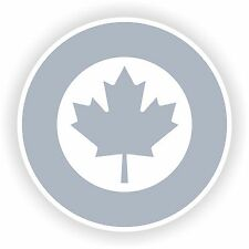 1x Low Visibility Royal Canadian Air Force Sticker Roundel RCAF Bumper Helmet PC