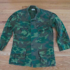 VINTAGE ORIGINAL VIETNAM CAMO JUNGLE JACKET USMC US MARINE 1969 POPLIN SMALL R